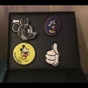 Coach Accessories - Coach x Disney Mickey Mouse Keychain/ Hangtag Set